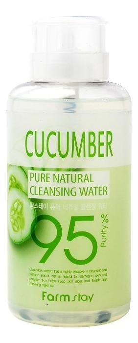 Очищающая вода для лица с экстрактом огурца Pure Cleansing Water Cucumber 500мл недорого