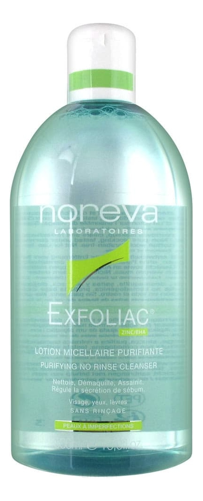 Очищающая мицеллярная вода ЭКСФОЛИАК Purifying No Rinse Cleanser: Вода 500мл эксфолиак акномега 100 купить москва