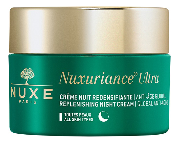 Купить Ночной укрепляющий крем НЮКСУРЬЯНС УЛЬТРА Ultra Replenisning Night Cream Global Anti-Aging 50мл, NUXE