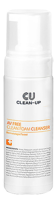 Очищающая пенка для проблемной кожи лица Clean-Up AV Free Clean Foam Cleanser 150мл