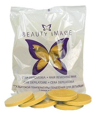 Горячий воск для депиляции в дисках натуральный Hair Removing Wax 1000г (желтый) воск для депиляции depilflax100 натуральный cera natural 600 г