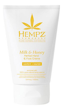 Hempz Крем для рук и ног Milk & Honey Herbal Hand & Foot Creme 100мл (молоко и мед)