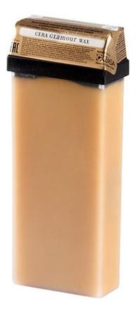 Теплый воск для депиляции в кассете с маслом арганы Cera Glamour Wax 110мл воск для депиляции depilflax100 натуральный cera natural 600 г