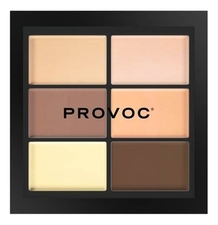 Provoc Палетка для коррекции лица Conceal Correct Contour CCC4 Medium Light  (кремовая текстура) 27г
