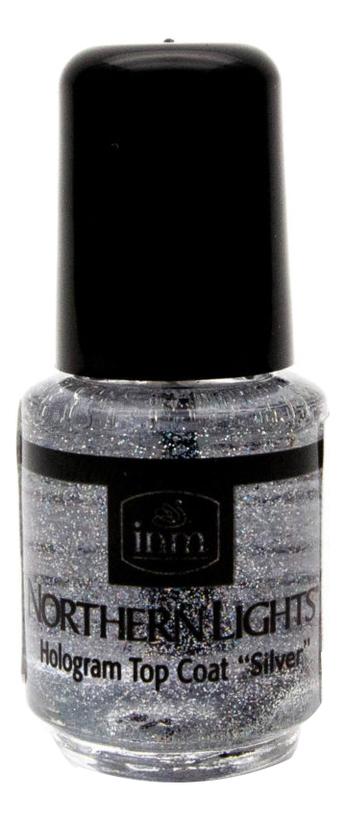 Купить Голографическая сушка-закрепитель лака для ногтей Northen Lights Hologram Top Coat Silver: Сушка-закрепитель 3, 5мл, INM