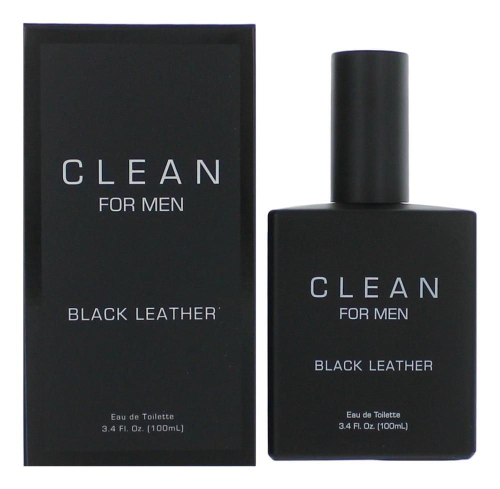 Clean Black Leather For Men : туалетная вода 100мл vintage engraved faux leather bracelet for men