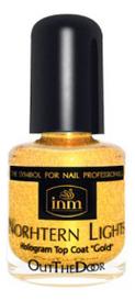 Голографическая сушка-закрепитель лака для ногтей Northen Lights Hologram Top Coat Gold: Сушка-закрепитель 3,5мл