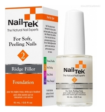 Nail Tek Базовое выравнивающее покрытие для мягких, слоящихся ногтей Ridge Filler Foundation 2 15мл