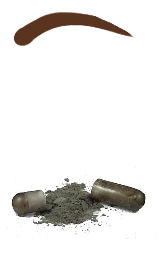Синтетическая краска-хна в капсулах для бровей Eyebrow Tint 4 капсул: Dark Brown