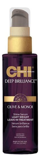 Купить Легкая несмываемая сыворотка для волос Deep Brilliance Olive & Monoi Shine Serum: Сыворотка 177мл, Легкая несмываемая сыворотка для волос Deep Brilliance Olive & Monoi Shine Serum, CHI