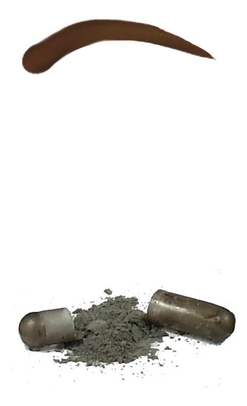 Синтетическая краска-хна в капсулах для бровей Eyebrow Tint 15 капсул: Dark Brown