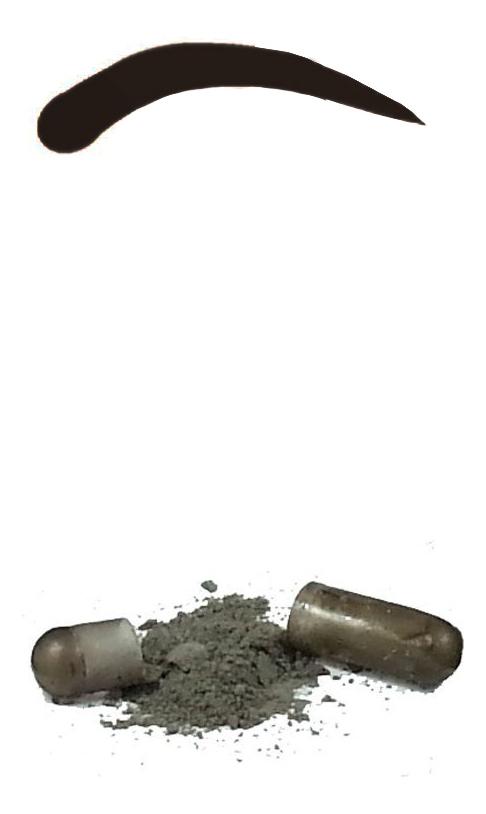 Синтетическая краска-хна в капсулах для бровей Eyebrow Tint 15 капсул: Natural Black