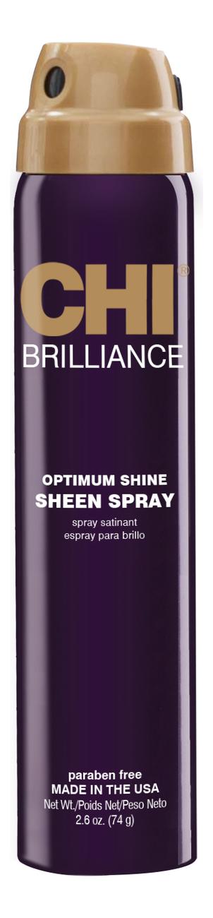 Спрей-блеск для волос Deep Brilliance Optimumm Shine Sheen Spray: Спрей 77мл chi infra shine infusion спрей блеск чи инфра 150 гр