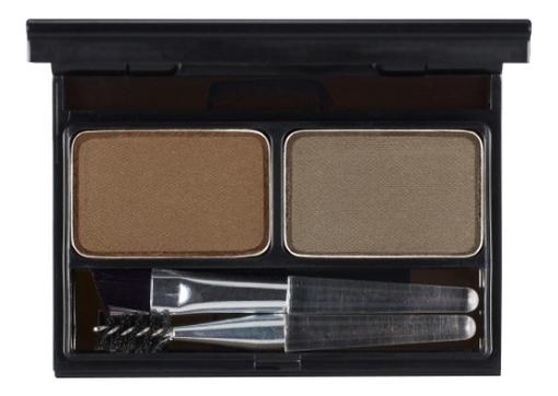 Палетка теней для бровей Top Professional Eyebrow Cake 4г: 02 Choco Brown + Gray
