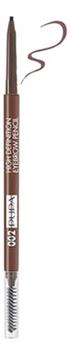 Купить Карандаш для бровей High Definition Eyebrow Pencil 0, 09г: 002 Brown, PUPA Milano