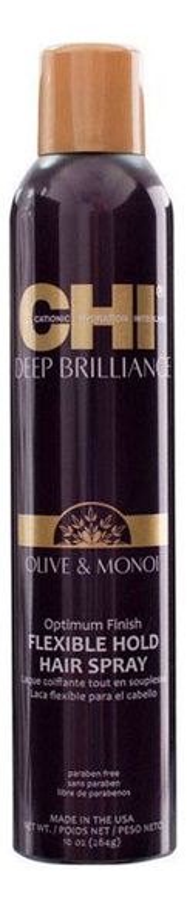Лак для волос Deep Brilliance Optimum Finish Flexible Hold Hair Spray 284г: 284г