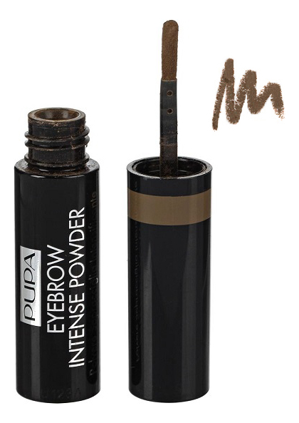 Фото - Пудра для бровей Eyebrow Intense Powder 1г: 003 Dark Brown pupa карандаш true eyebrow pencil оттенок 003 dark brown