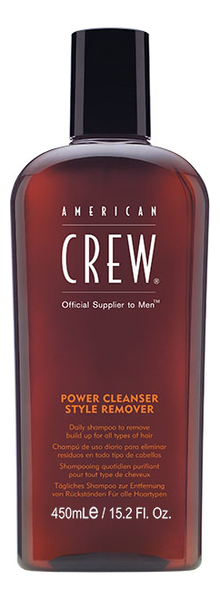Шампунь очищающий волосы от укладочных средств Power Cleanser Style Remover: Шампунь 450мл american crew power cleanser style remover ежедневный очищающий шампунь 250 мл american crew для тела и волос