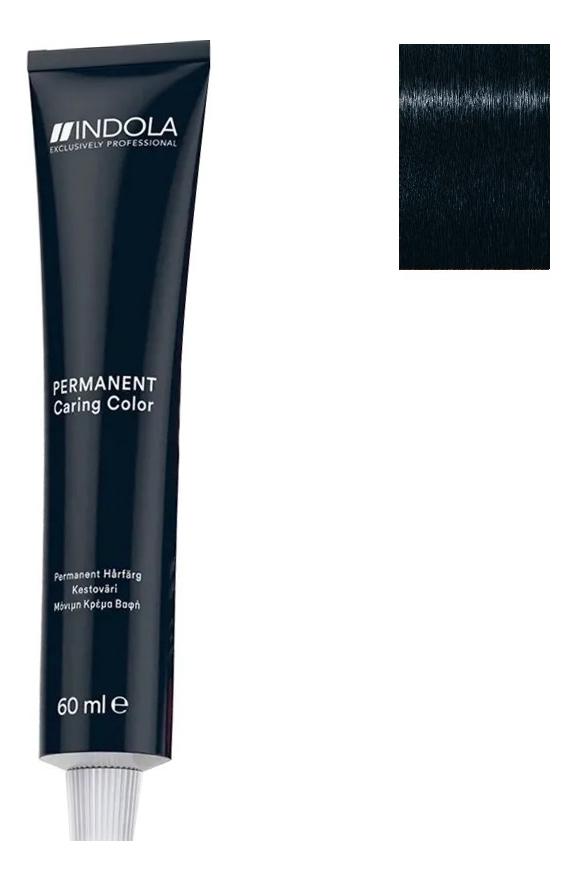 Стойкая крем-краска для волос Permanent Caring Color 60мл: 1.1 Черный пепельный крем краска для волос indola color red