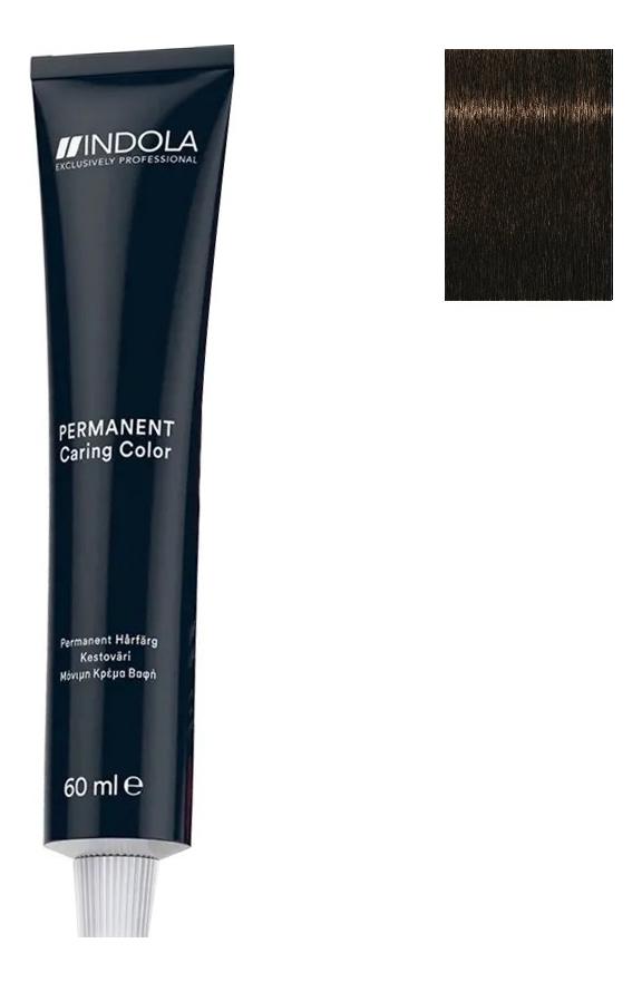 Стойкая крем-краска для волос Permanent Caring Color 60мл: 4.38 Средний коричневый золотистый шоколадный крем краска для волос indola color red