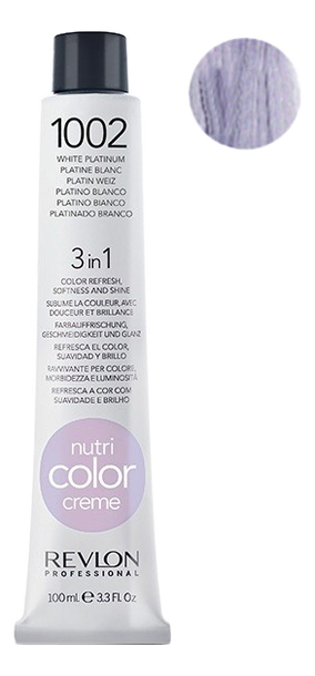Краска для волос Nutri Color Creme 1002 White Platinum: Краска 100мл недорого