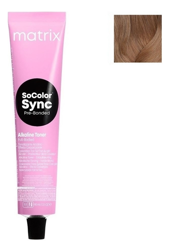 Купить Крем-краска для волос без аммиака Color Sync 90мл: 8N, MATRIX