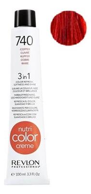 Краска для волос Nutri Color Creme 740 Copper: Краска 100мл недорого