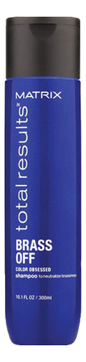 Шампунь для волос нейтрализующий желтизну Total Results Brass Off Color Obsessed Shampoo: Шампунь 300мл шампунь color obsessed matrix