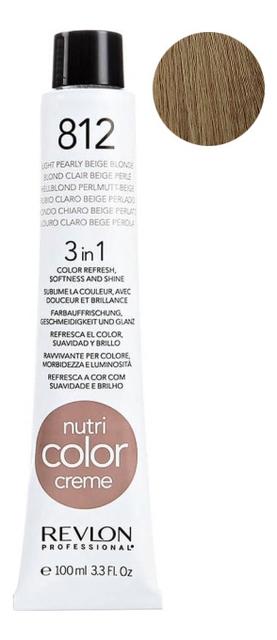 Краска для волос Nutri Color Creme 812 Light Pearly Beige Blonde: Краска 100мл недорого