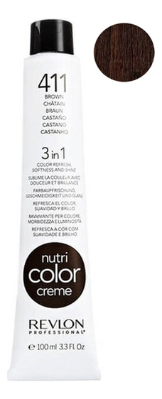 Краска для волос Nutri Color Creme 411 Brown: Краска 100мл недорого