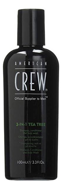 Средство по уходу за волосами и телом на основе чайного дерева 3-in-1 Tea Tree Shampoo, Conditioner and Body Wash: 100мл