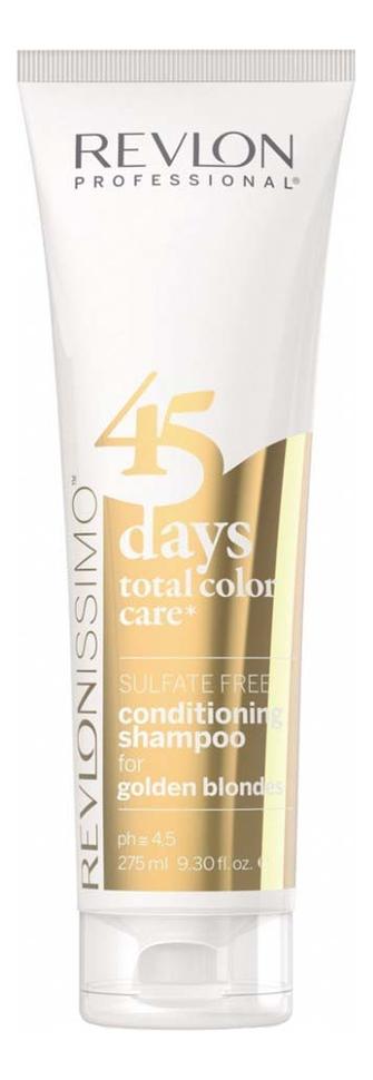 Купить Шампунь-кондиционер для волос без сульфатов Revlonissimo 45 Days Total Color Care 275мл: Golden Blondes, Revlon Professional