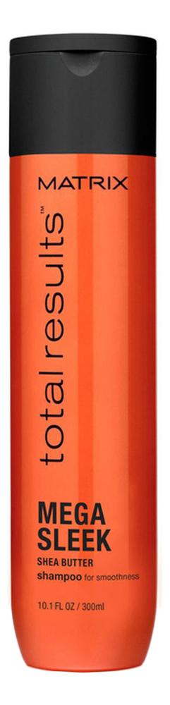 Купить Шампунь для непослушных волос с маслом ши Total Results Mega Sleek Shea Butter Shampoo: Шампунь 300мл, MATRIX