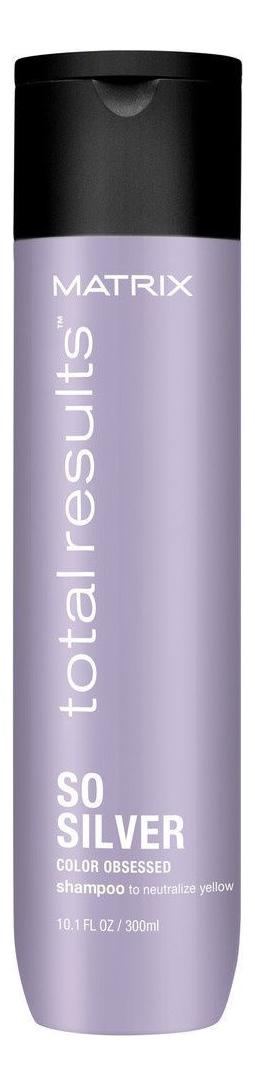 Шампунь для волос нейтрализующий желтизну Total Results So Silver Color Obsessed Shampoo 300мл: Шампунь 300мл шампунь 300мл johnsons baby для волос