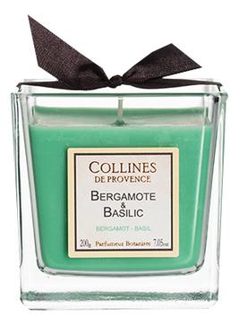 Купить Ароматическая свеча Bergamot-Basil: Свеча 200г, Collines de Provence