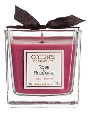 Купить Ароматическая свеча Rosa-Rhubarb: Свеча 200г, Collines de Provence