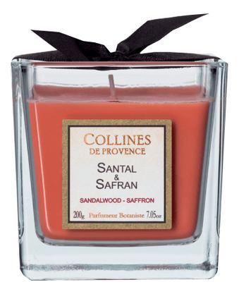 Купить Ароматическая свеча Sandalwood-Saffron: Свеча 200г, Collines de Provence