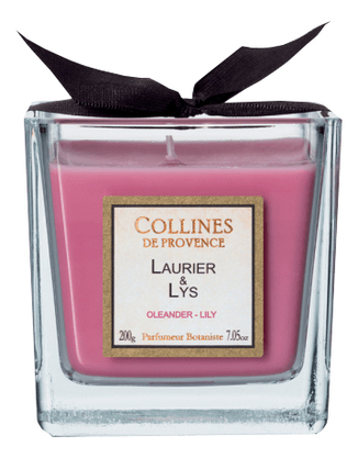 Купить Ароматическая свеча Oleander-Lily: Свеча 200г, Collines de Provence