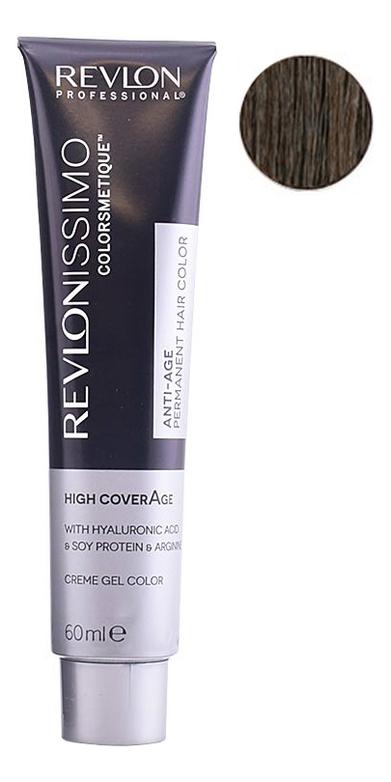 Купить Крем-краска для волос Revlonissimo Colorsmetique High CoverAge 60мл: 5-41 Насыщенный светлый орех, Revlon Professional