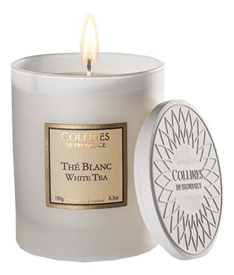 Купить Ароматическая свеча White Tea: Свеча 180г, Collines de Provence