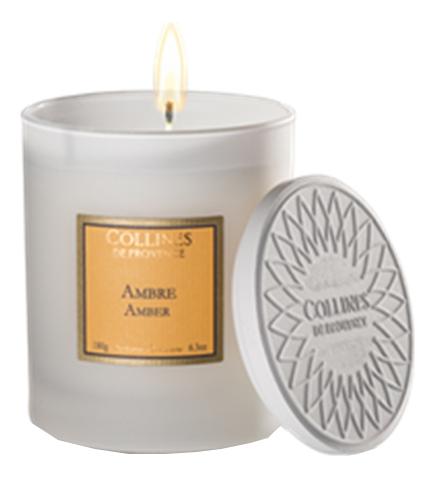 Купить Ароматическая свеча Amber (амбра): Свеча 180г, Collines de Provence