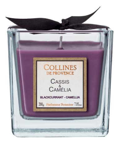Купить Ароматическая свеча Blackcurrant-Camellia: Свеча 200г, Collines de Provence