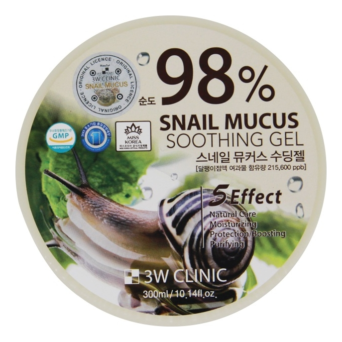Универсальный гель для тела с улиточным муцином 98% Snail Mucus Soothing Gel 300мл