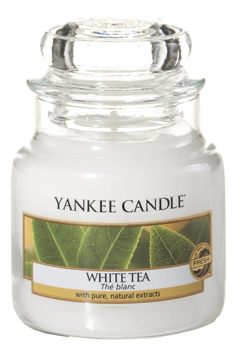 Купить Ароматическая свеча White Tea: Свеча 104г, Yankee Candle