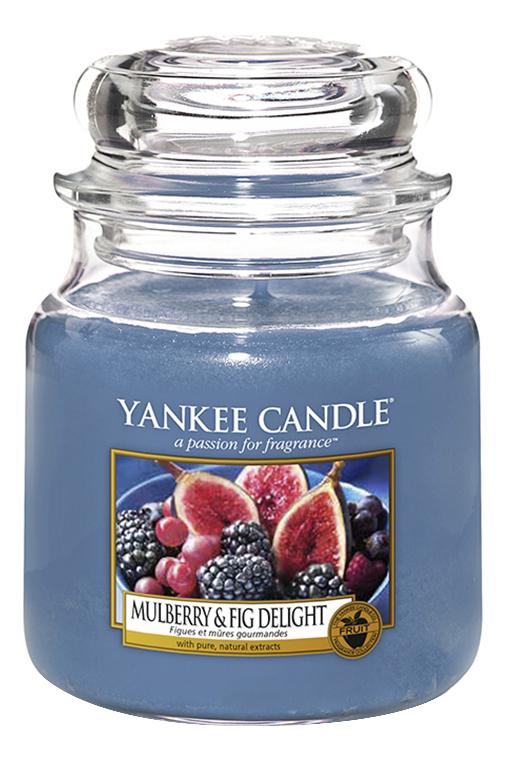 Купить Ароматическая свеча Mulberry & Fig Delight: Свеча 411г, Ароматическая свеча Mulberry & Fig Delight, Yankee Candle