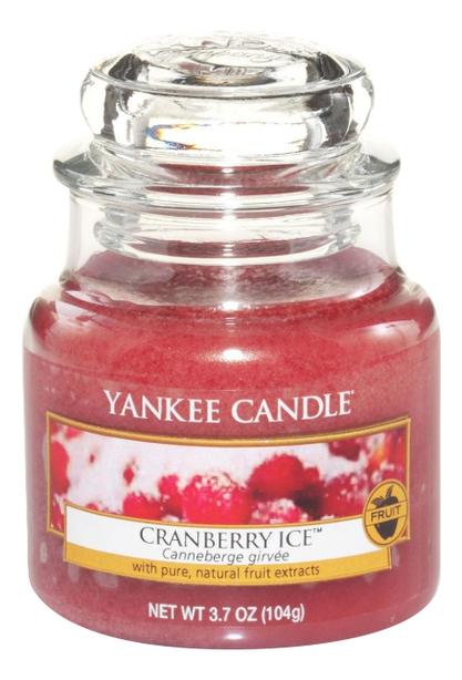 Купить Ароматическая свеча Cranberry Ice: Свеча 104г, Yankee Candle