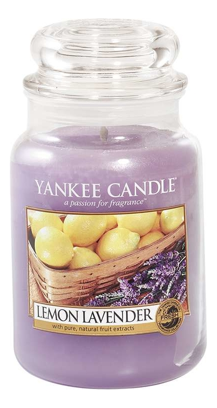 Купить Ароматическая свеча Lemon Lavender: Свеча 623г, Yankee Candle