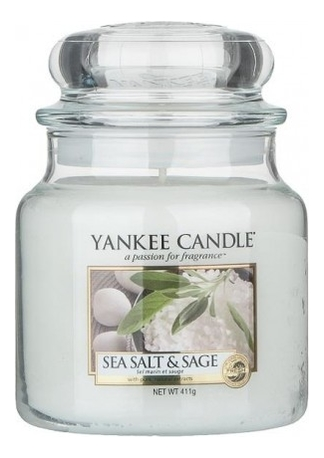 Купить Ароматическая свеча Sea Salt & Sage: Свеча 411г, Ароматическая свеча Sea Salt & Sage, Yankee Candle