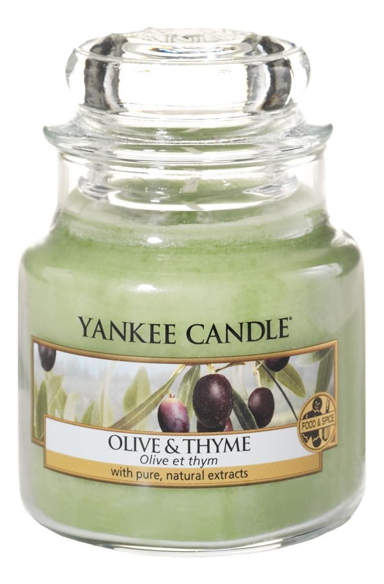 Купить Ароматическая свеча Olive & Thyme: Свеча 104г, Ароматическая свеча Olive & Thyme, Yankee Candle
