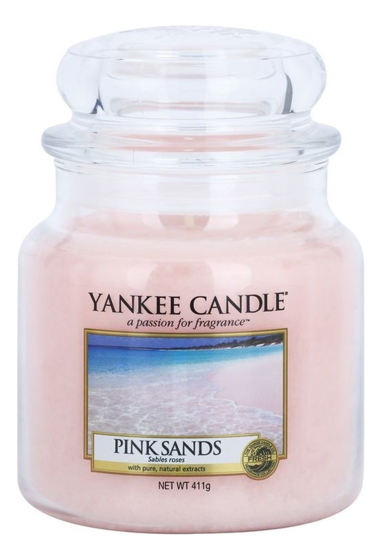 Купить Ароматическая свеча Pink Sands: Свеча 411г, Yankee Candle
